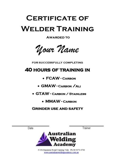 Welding Certificate Template by Welder Certificate Sle Format Images Certificate