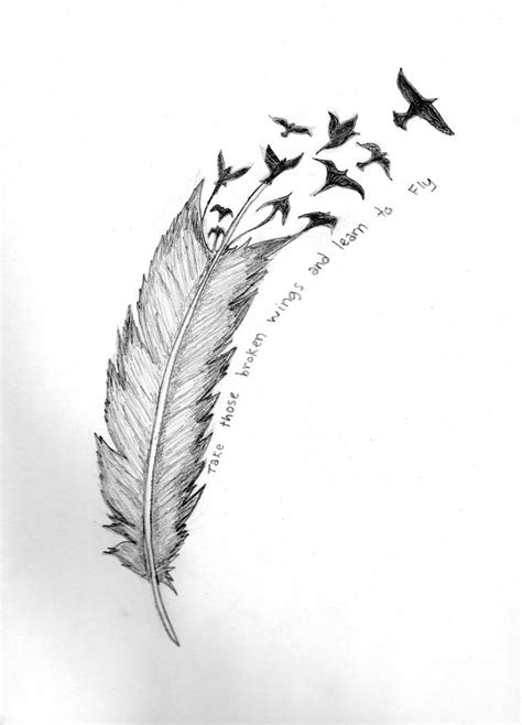 tattoo designs birds in flight flying birds in feather design