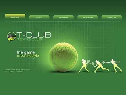 tennis club dynamic flash template