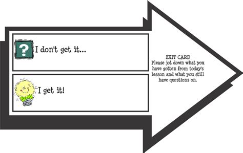 Exit Card Template by Aps Reading March 2012