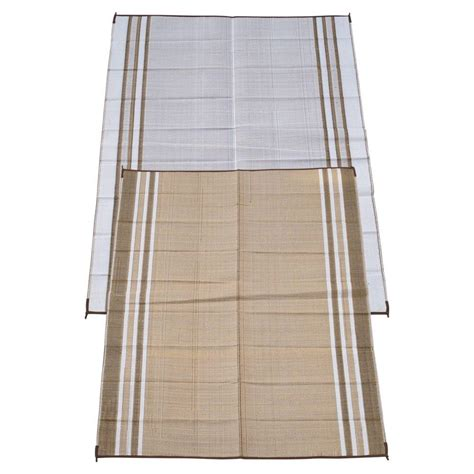 fireside patio mats beige 6 ft x 9 ft