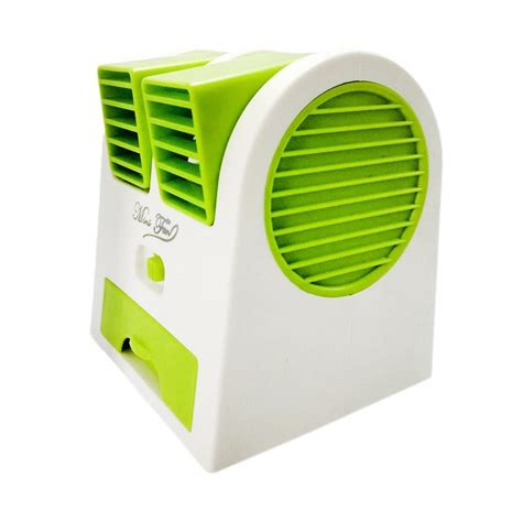 jual mini fan blower kipas angin ac hijau