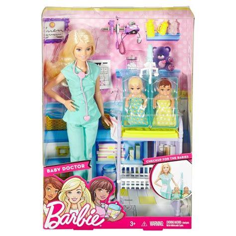 barbie careers baby doctor doll amp playset target