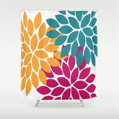 orange and teal shower curtain shower curtain custom teal orange you choose by