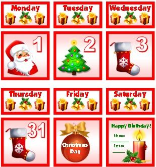 printable december calendar pieces christmas and december writing prompts creative writing