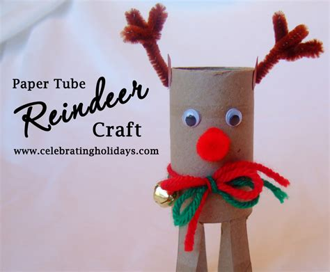 How To Make Paper Reindeer - toilet paper craft celebrating holidays