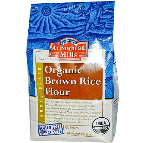 organic light brown rice arrowhead mills organic brown rice flour 32 oz 907 g