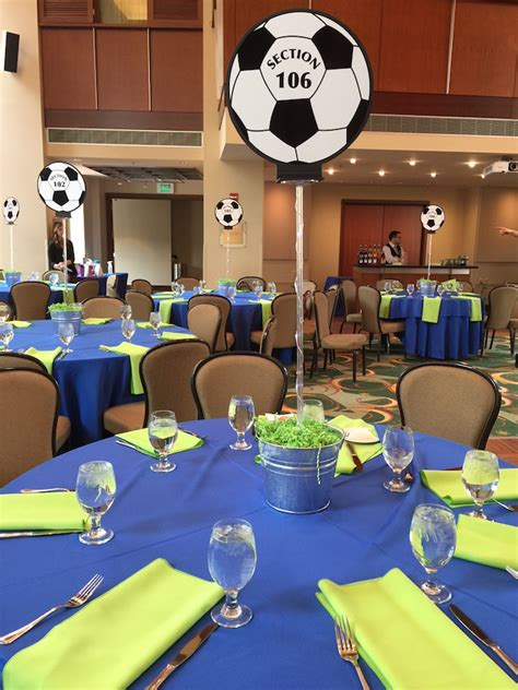 Soccer Ball Centerpieces Soccer Themed Bat Mitzvah Party Soccer Banquet Centerpiece Ideas