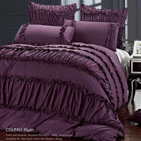 Plum Bed Sets Lorenzo Damask 8 Pc Comforter Bed Set Plum Bedding Sets