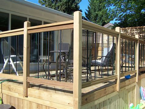 Patio Railing Designs Deck Railing Ideas General Fencing Gates Decks And Railings Pergolas Arbors Bridges