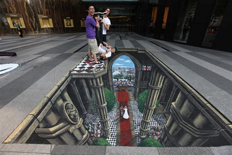 3d Artist by Visitbritain 3d Display Caign Deemed Success In Singapore The Drum