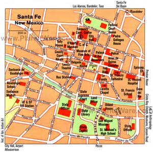 santa fe map 14 top tourist attractions in santa fe planetware