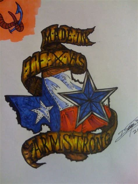 texas made tattoo designs quot made in armstrong quot design by doug armstrong