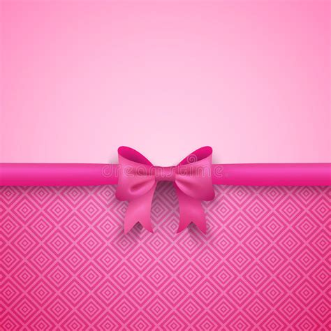 wallpaper ribbon cute romantic vector pink background with cute bow and stock