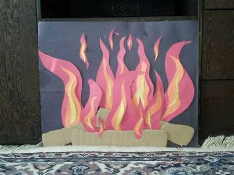 How To Make A Fireplace Out Of Paper - construction paper place our family made for santa