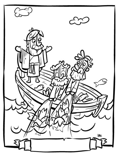 fishers of men bible coloring pages coloring pages
