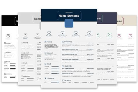 Top 5 Infographic Resume Templates Infographic Resume Template Word Free