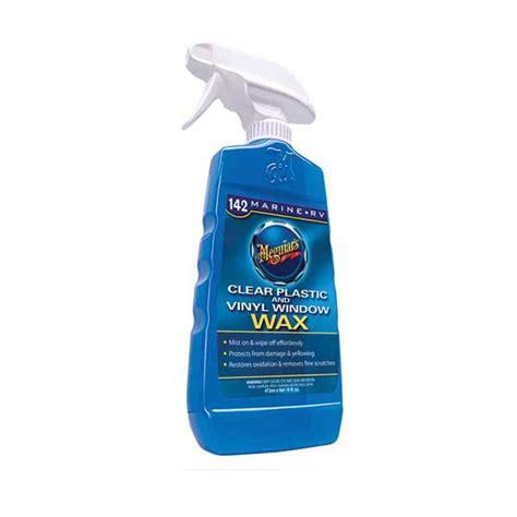 boat wax products meguiars clear plastic vinyl window wax west marine