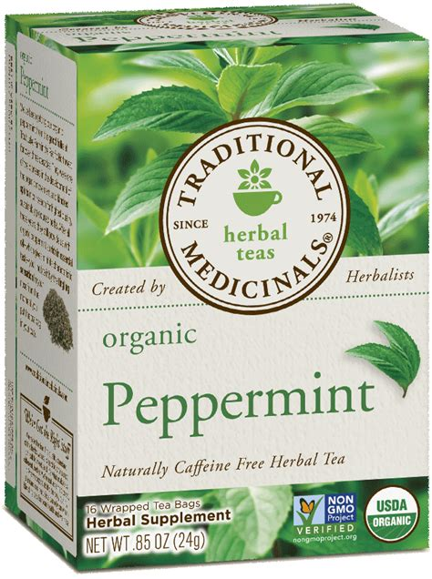 Peppermint Tea Lemon Detox by Peppermint Traditional Medicinals