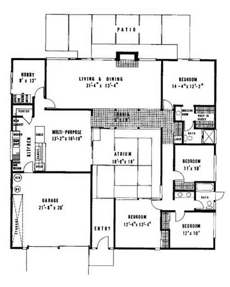 eichler home floor plans beautiful 26 best eichler floor