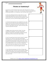 determining themes of stories dramas or poems worksheets