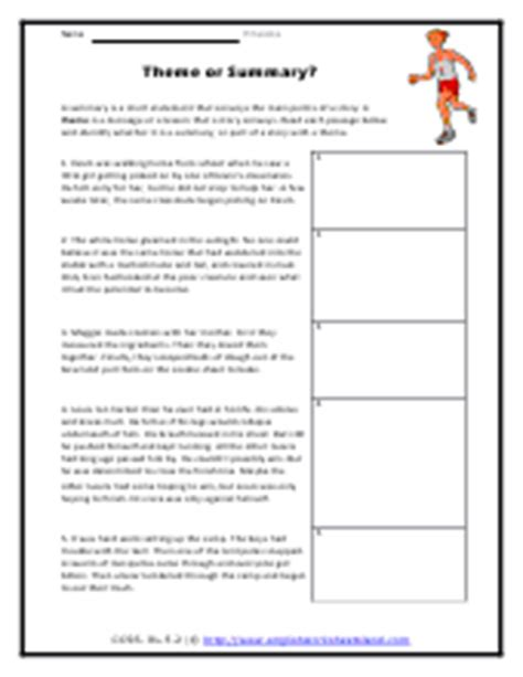 identifying themes in literature worksheets finding the theme of a story worksheets wiildcreative