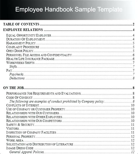 Employee Personnel File Template Employee Sle Employee Personnel File Checklist Virtuart Me Church Security Manual Template