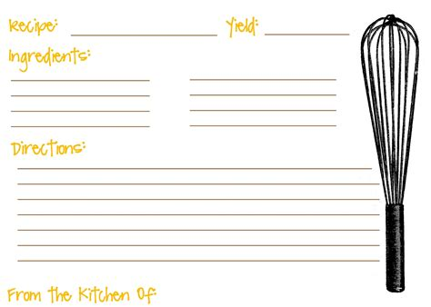 Printable Cards Template by Scooter Cakes Free Printable Recipe Cards Recipe Cards