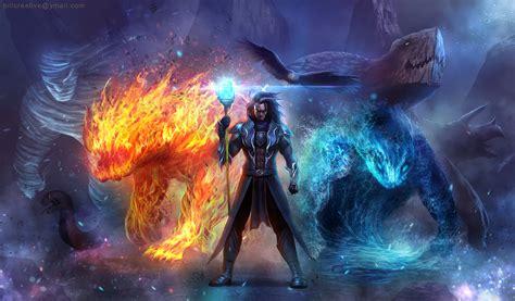 wallpaper coc dark elemental summoner full hd wallpaper and background