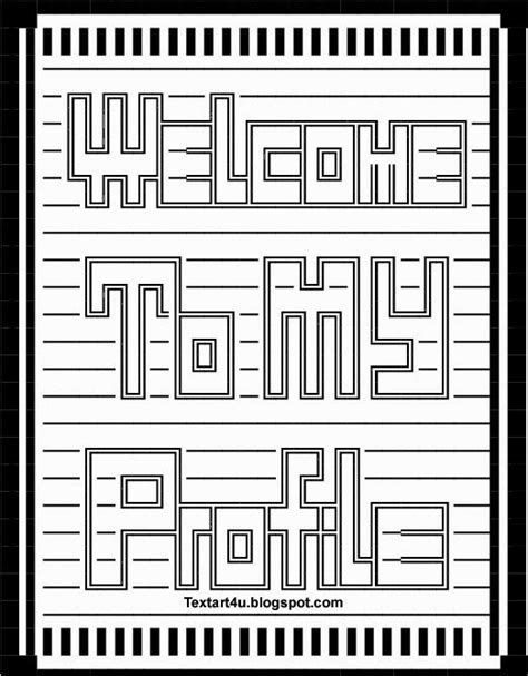 font design copy and paste welcome to my profile copy paste text art cool ascii