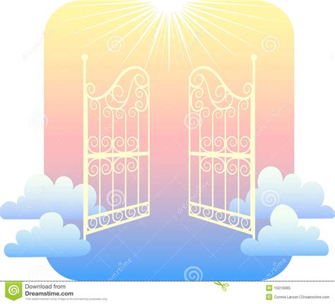 gates of heaven eps stock vector image of belief doorway