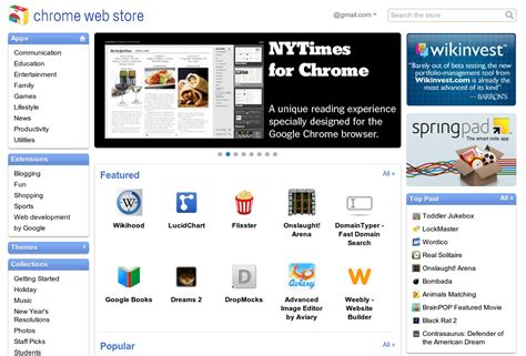 chrome google webstore the google chrome web store is now live