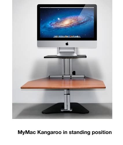 stand at your desk sit stand workstations stand at your desk with your imac