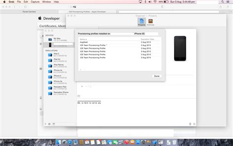 xcode tutorial iphone ios 6 can t install provisioning profiles on iphone ios 8 beta