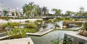 china restaurant city garten lotus lake park by integrated planning and design inc