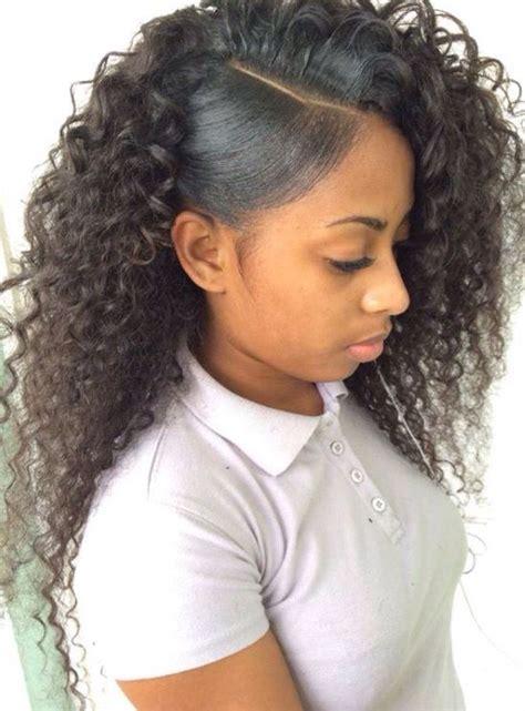 short hair styles part in middle with side bangs meer dan 1000 idee 235 n over side part weave op pinterest