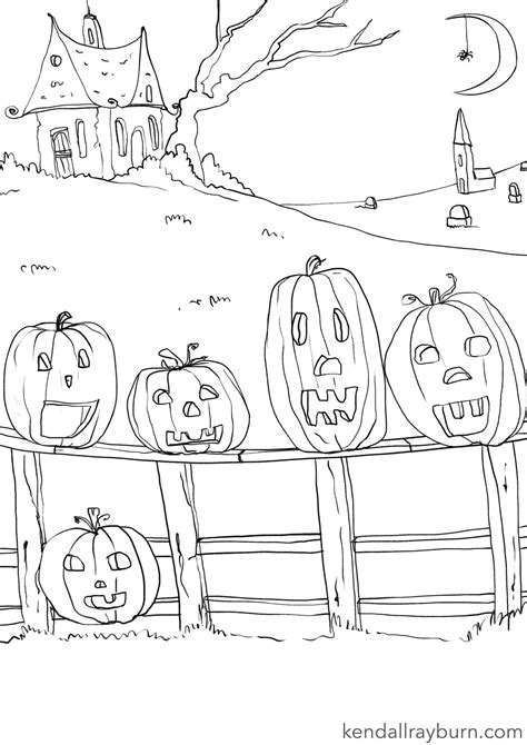 five little pumpkins coloring page sketch coloring page