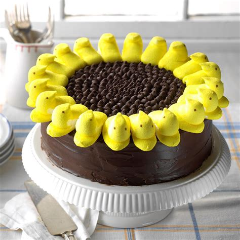 peeps sunflower cake recipe taste  home