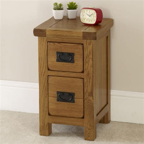 slimline bedroom drawers rustic oak 2 drawer slim bedside table solid bedroom