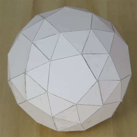 How To Make A Dodecahedron With Paper - paper snub dodecahedron