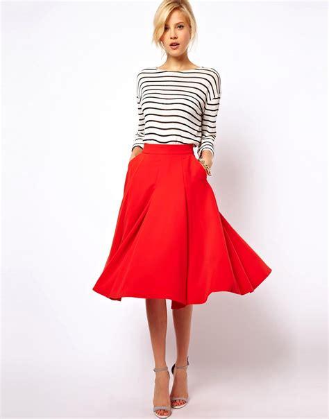 asos asos midi circle skirt with pockets at asos