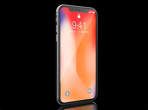 iphone x silver 3d model cgtrader