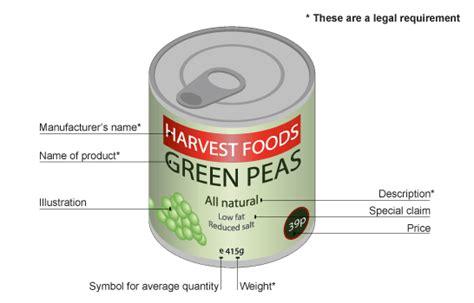 food label design uk bbc gcse bitesize labelling