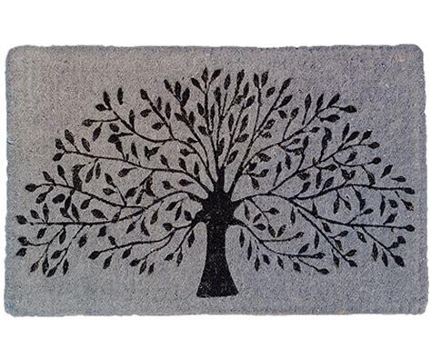 Large Grey Doormat Grey Tree Silhouette Regular Doormat Doormats Large And