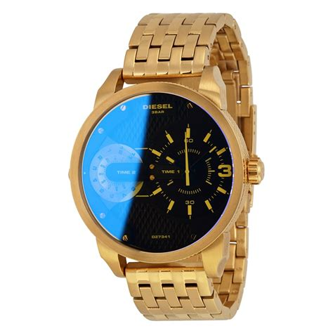 diesel dual time gold tone s