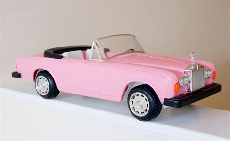 barbie toy cars vintage rolls royce pink zima barbie convertible toy car