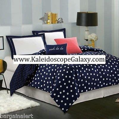 navy polka dot comforter kate spade new york little star queen comforter 3pc polka