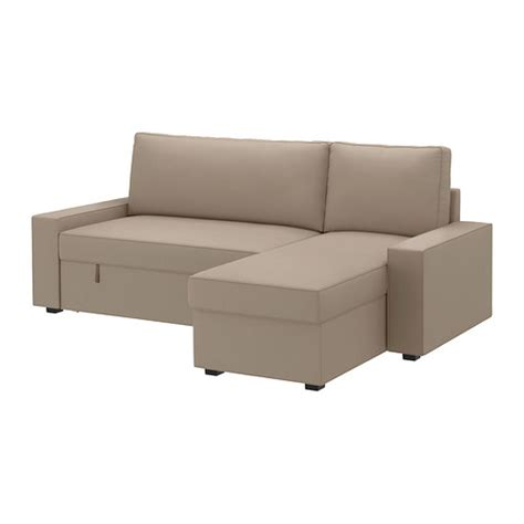 Chaise Couch Cover Vilasund Cover For Sofa Bed With Chaise Dansbo Beige Ikea