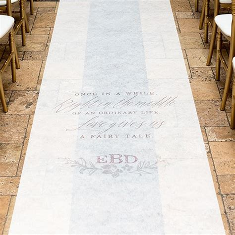 Wedding Aisle Runner Personalized by Modern Tale Personalized Aisle Runner The Knot Shop