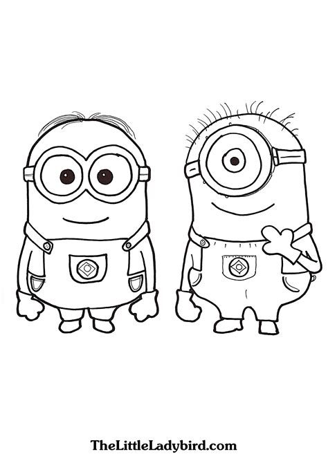 coloring pages minion stuart dave and stuart the minions coloring page coloring pages